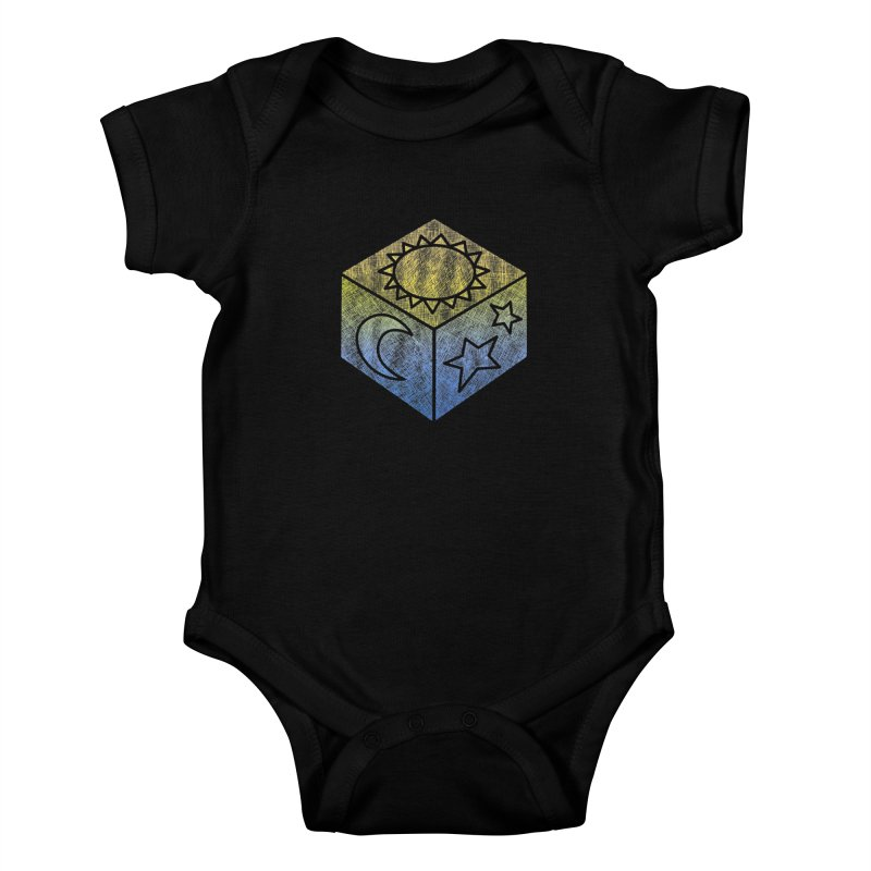 Sun Moon & Stars Kids Baby Bodysuit by Coffee Pine Studio