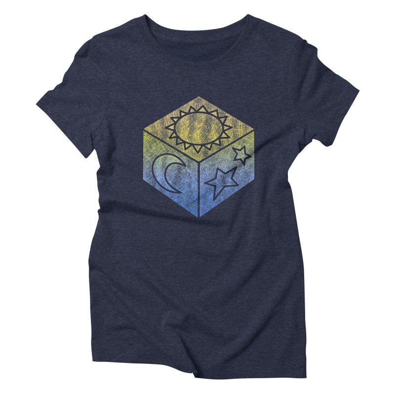 Sun Moon & Stars Women's Triblend T-Shirt by Coffee Pine Studio