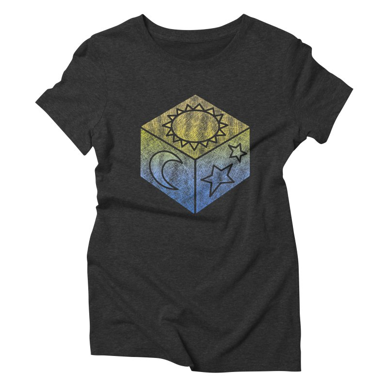 Sun Moon & Stars Women's Triblend T-Shirt by Coffee Pine Studio