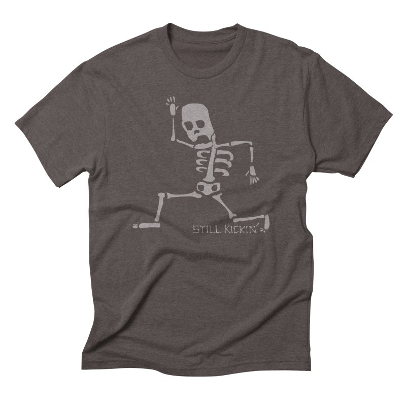 Still Kickin' in Men's Triblend T-Shirt Tri-Coffee by Coffee Pine Studio