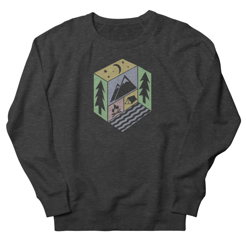 Capture the Outdoors Men's French Terry Sweatshirt by Coffee Pine Studio