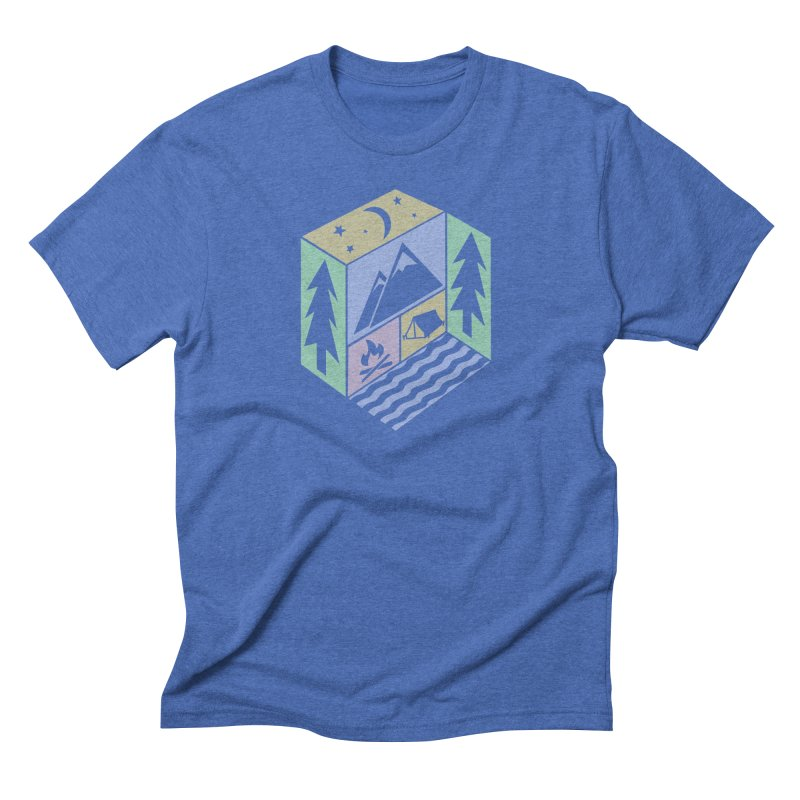 Capture the Outdoors in Men's Triblend T-Shirt Blue Triblend by Coffee Pine Studio