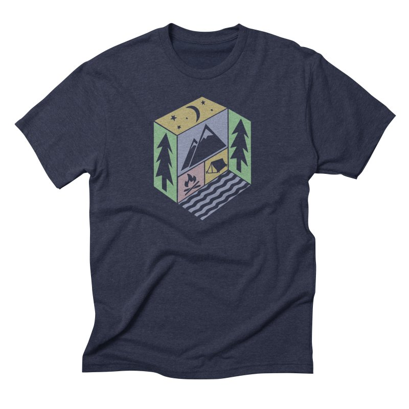Capture the Outdoors Men's Triblend T-shirt by Coffee Pine Studio