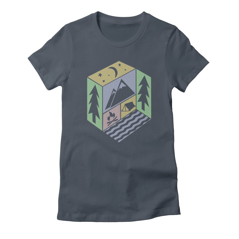 Capture the Outdoors Women's Fitted T-Shirt by Coffee Pine Studio