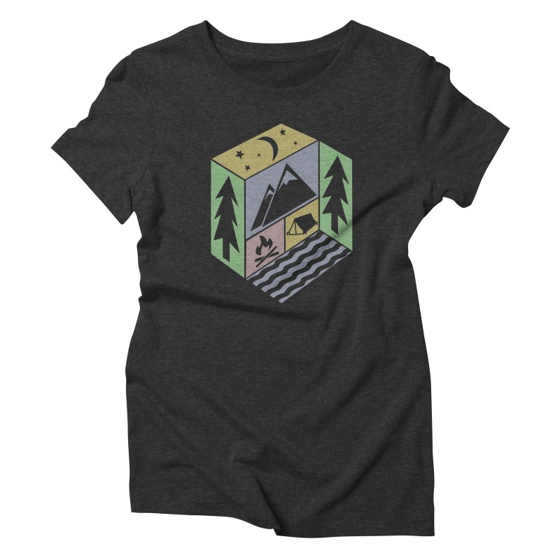 Capture the Outdoors Women's Triblend T-shirt by Coffee Pine Studio