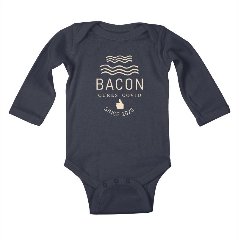Covid Fact Kids Baby Longsleeve Bodysuit by Coffee Pine Studio