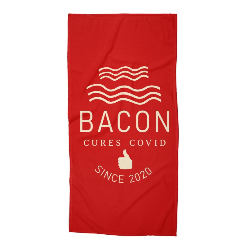 Covid Fact Accessories Beach Towel by Coffee Pine Studio
