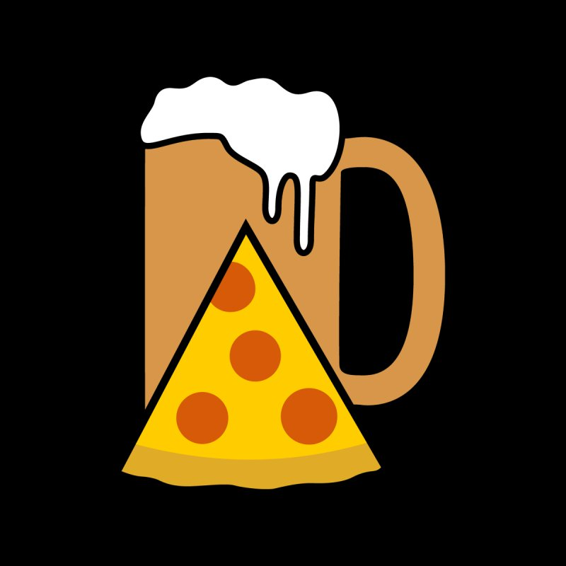 Beer and Pizza Time Women's T-Shirt by Coffee Pine Studio