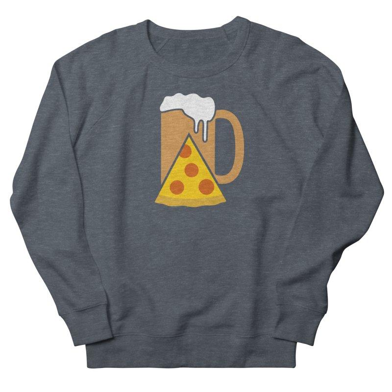 Beer and Pizza Time Men's Sweatshirt by Coffee Pine Studio
