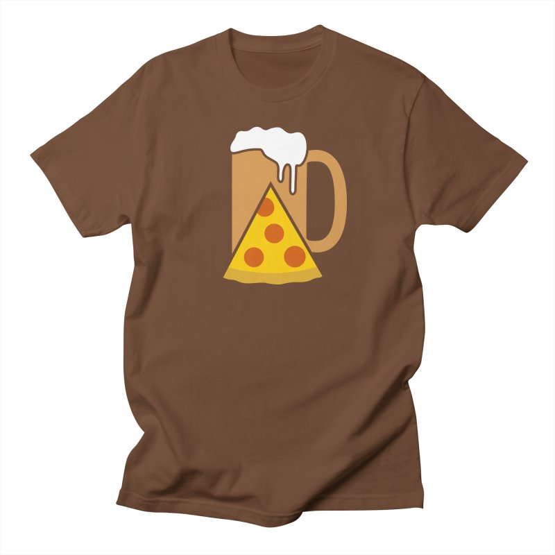 Beer and Pizza Time Men's T-shirt by Coffee Pine Studio