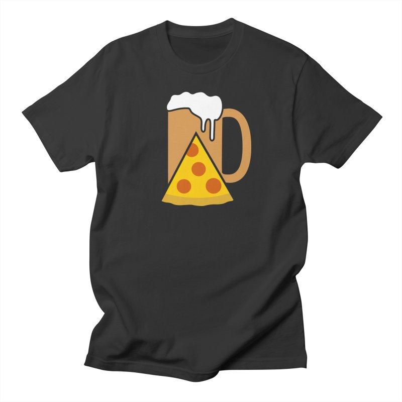 Beer and Pizza Time Men's Regular T-Shirt by Coffee Pine Studio
