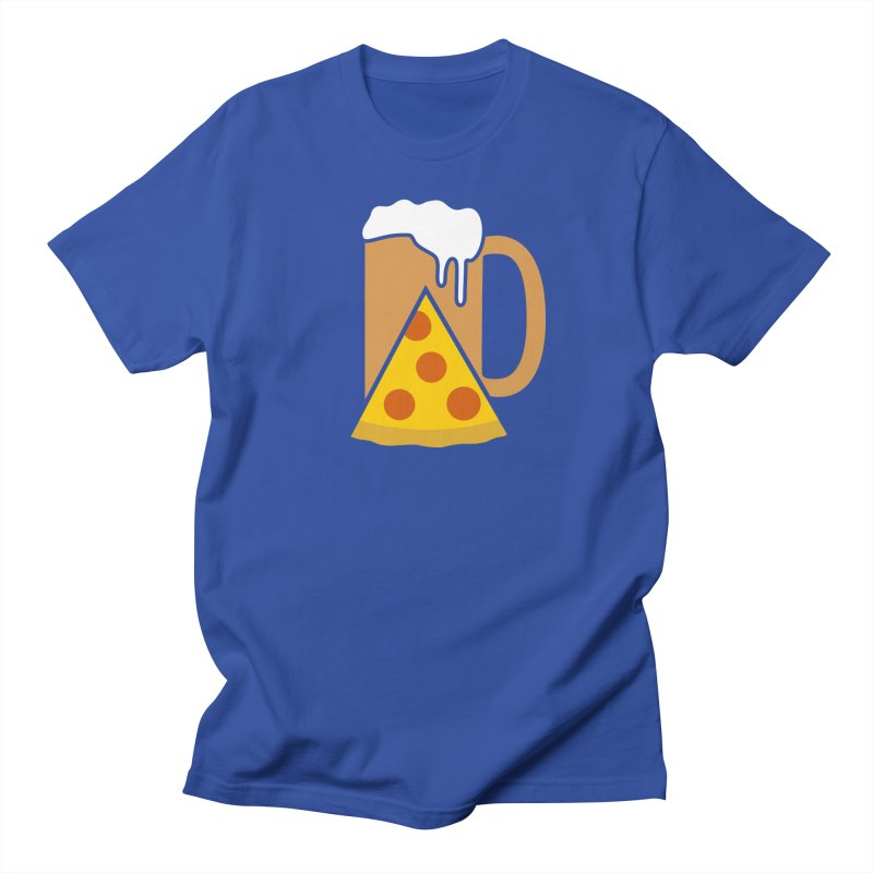 Beer and Pizza Time Women's Unisex T-Shirt by Coffee Pine Studio