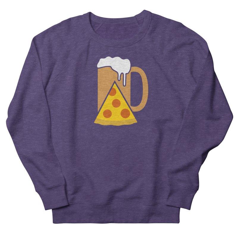 Beer and Pizza Time Women's Sweatshirt by Coffee Pine Studio