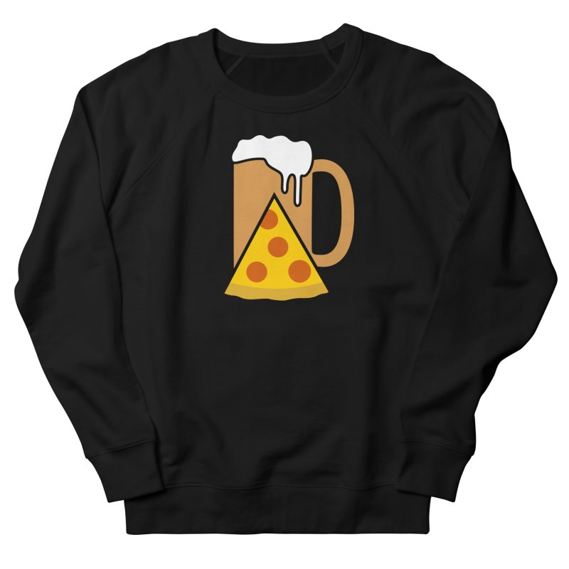 Beer and Pizza Time Women's French Terry Sweatshirt by Coffee Pine Studio