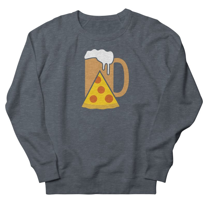 Beer and Pizza Time Men's French Terry Sweatshirt by Coffee Pine Studio