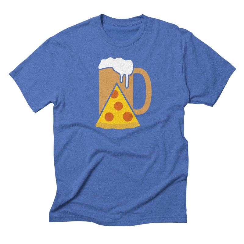 Beer and Pizza Time Men's Triblend T-Shirt by Coffee Pine Studio