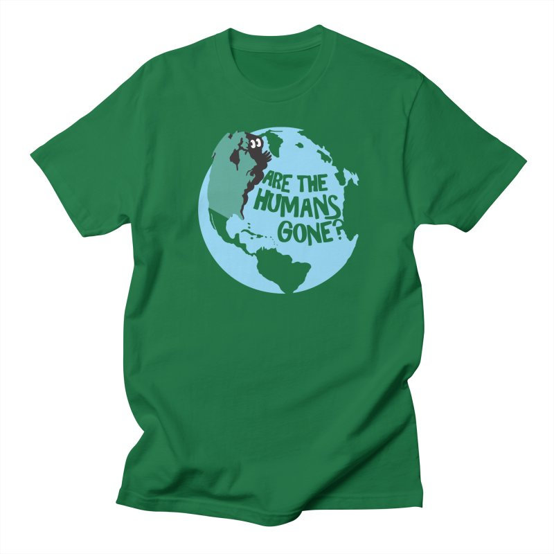 Is it safe? in Men's Regular T-Shirt Kelly Green by Coffee Pine Studio
