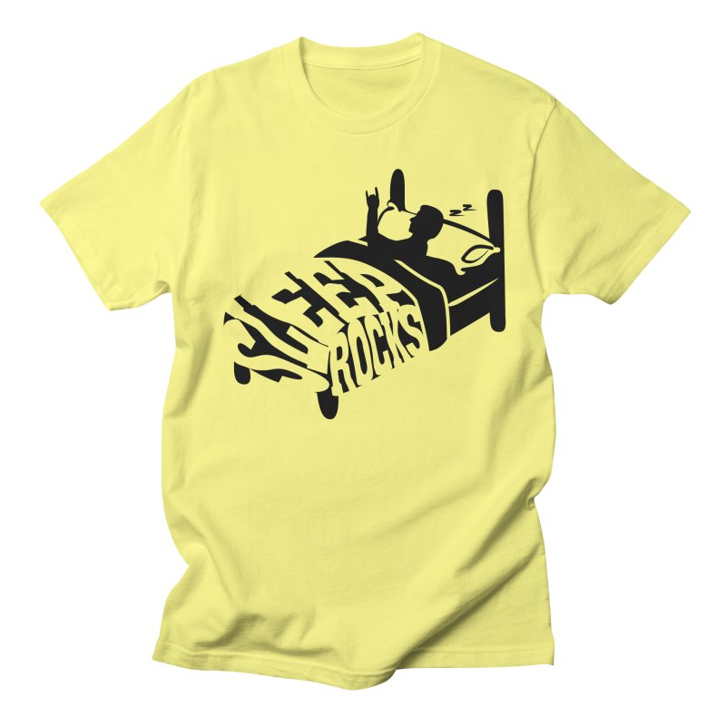 Sleep Rocks in Men's Regular T-Shirt Lemon by Coffee Pine Studio