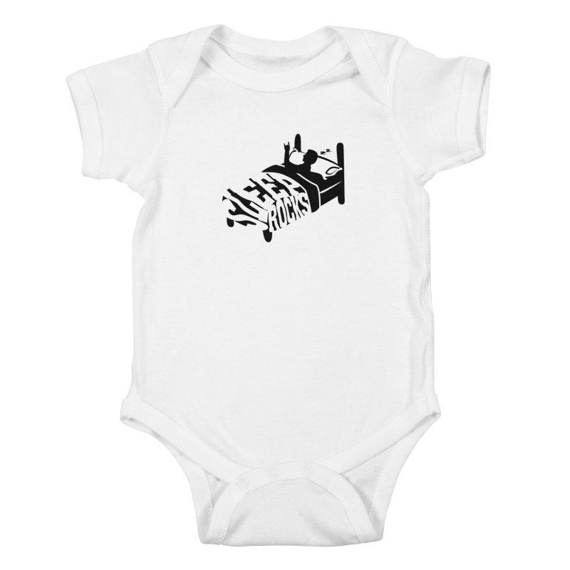Sleep Rocks Kids Baby Bodysuit by Coffee Pine Studio