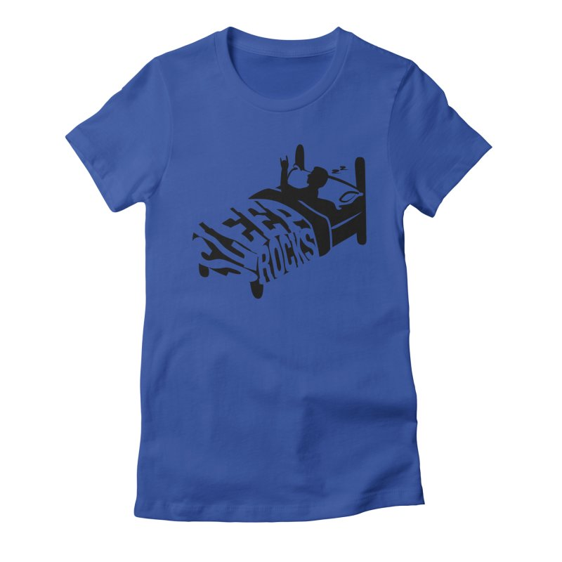 Sleep Rocks Women's Fitted T-Shirt by Coffee Pine Studio