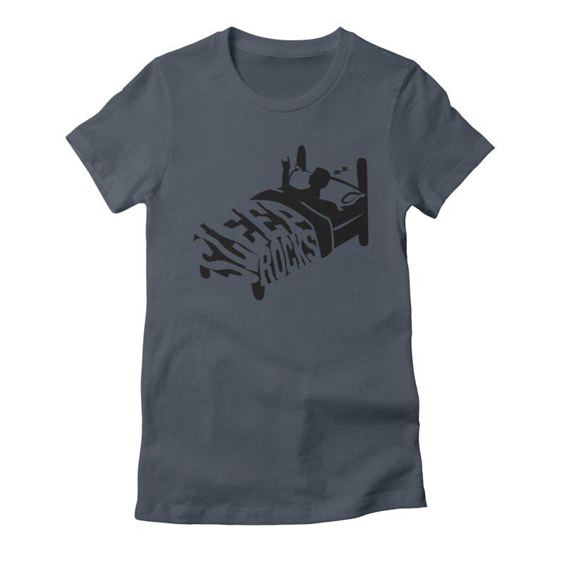 Sleep Rocks Women's Fitted T-Shirt by Coffee Pine Studio