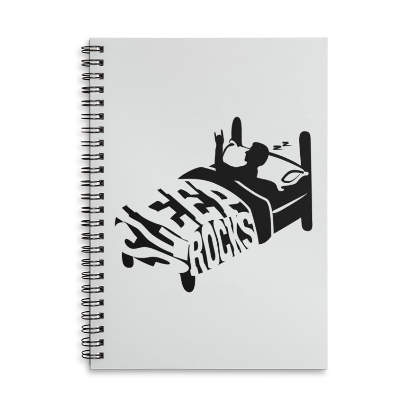 Sleep Rocks Accessories Lined Spiral Notebook by Coffee Pine Studio