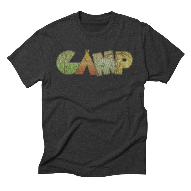 Camp Men's Triblend T-Shirt by Coffee Pine Studio