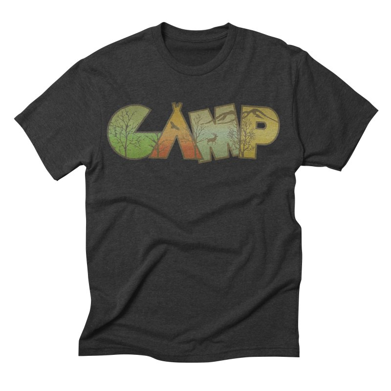 Camp Men's Triblend T-shirt by Coffee Pine Studio