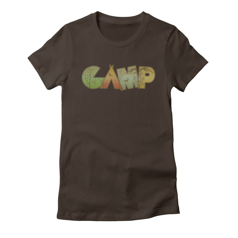 Camp Women's Fitted T-Shirt by Coffee Pine Studio