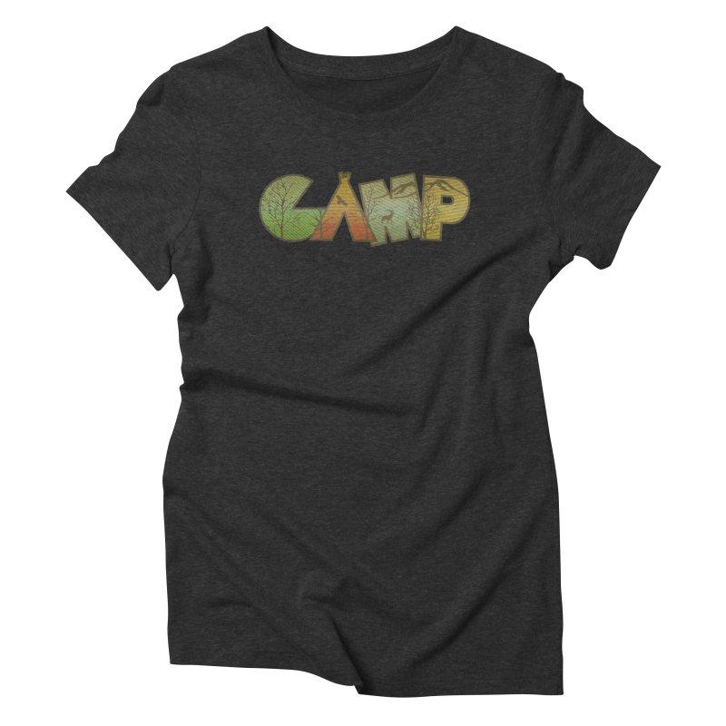 Camp Women's Triblend T-Shirt by Coffee Pine Studio