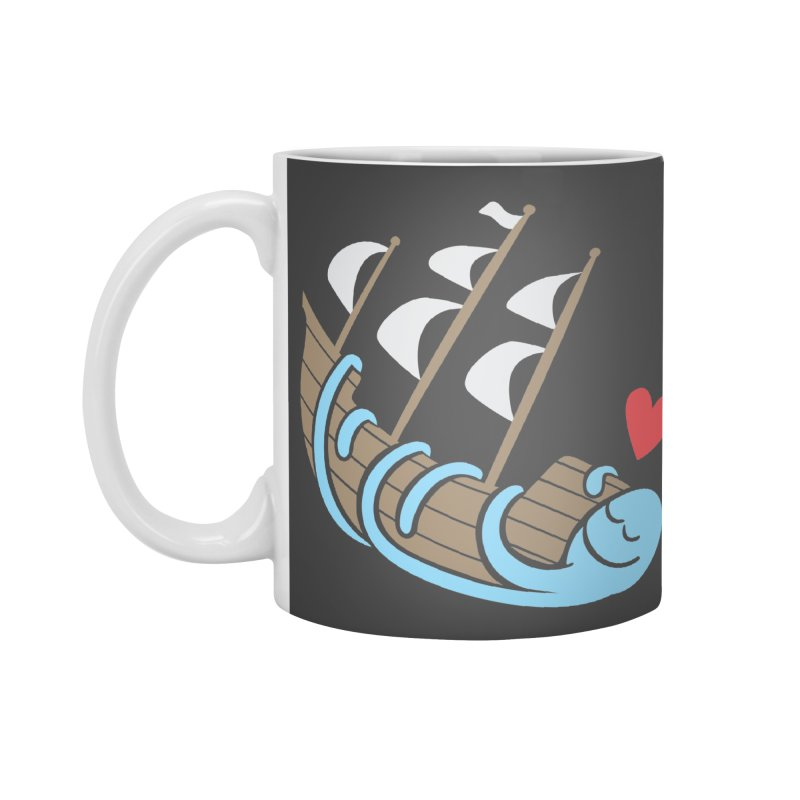 The Ship Loving Kraken Accessories Standard Mug by Coffee Pine Studio