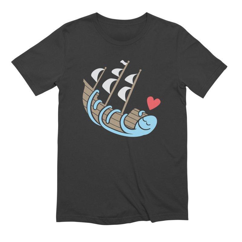 The Ship Loving Kraken Men's Extra Soft T-Shirt by Coffee Pine Studio