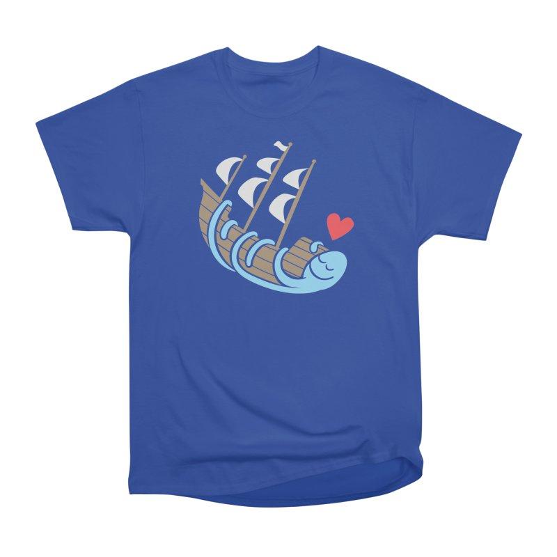 The Ship Loving Kraken Women's Heavyweight Unisex T-Shirt by Coffee Pine Studio