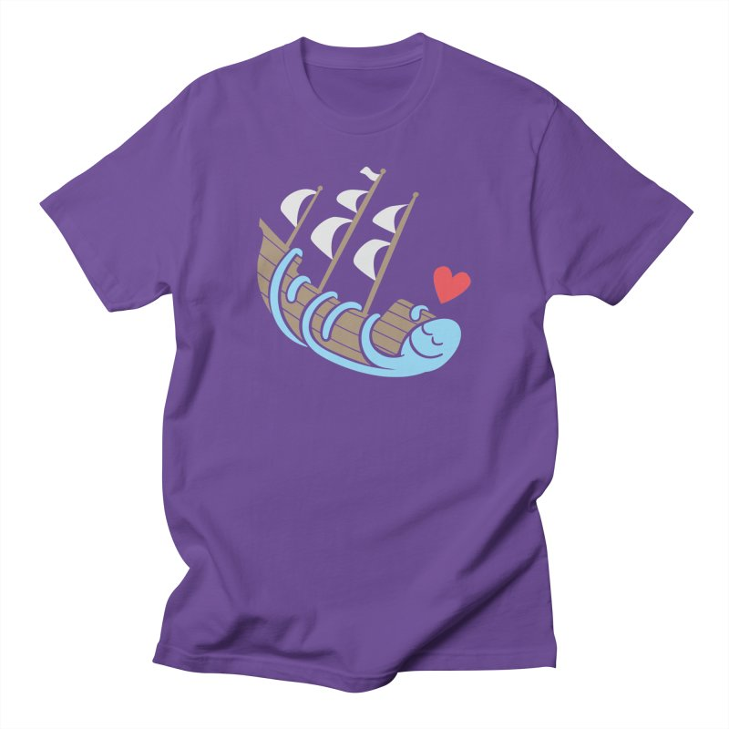The Ship Loving Kraken Women's Unisex T-Shirt by Coffee Pine Studio