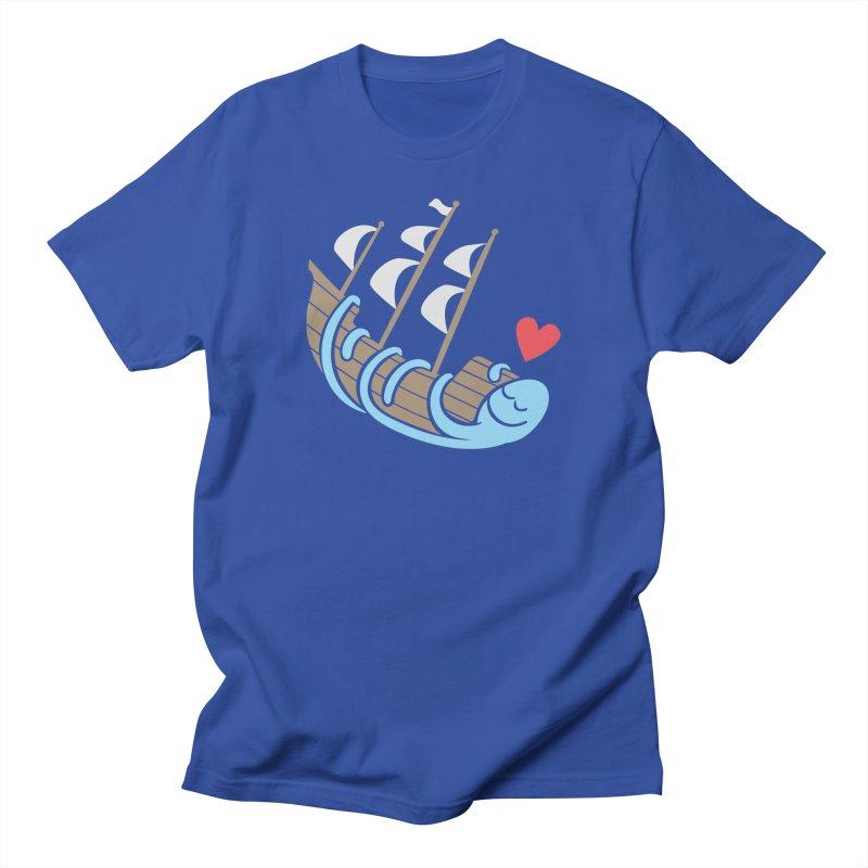 The Ship Loving Kraken Women's Regular Unisex T-Shirt by Coffee Pine Studio