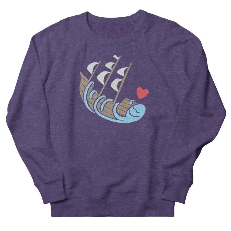 The Ship Loving Kraken Women's French Terry Sweatshirt by Coffee Pine Studio