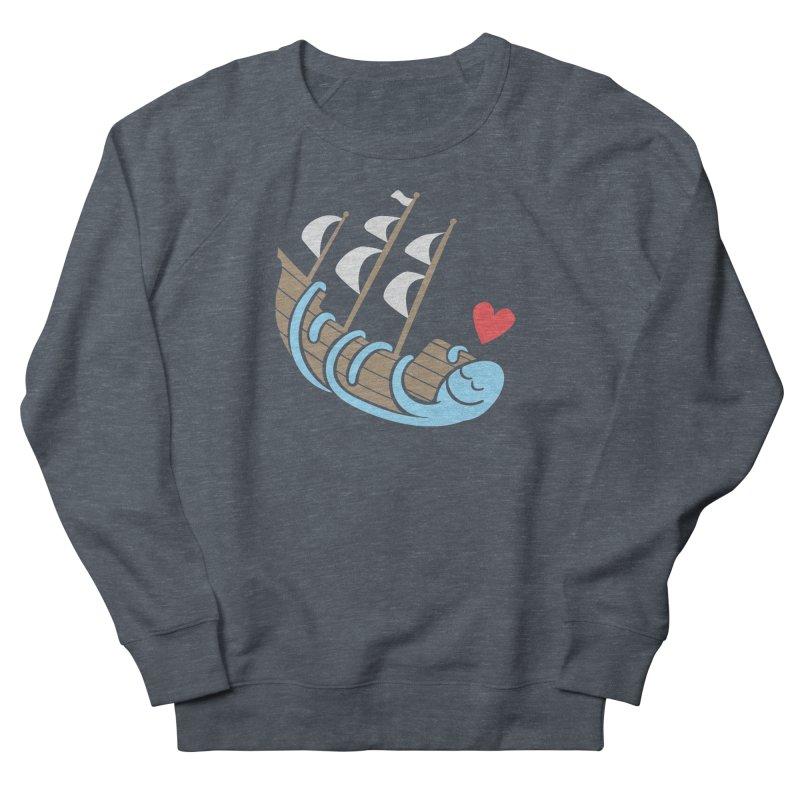 The Ship Loving Kraken Men's French Terry Sweatshirt by Coffee Pine Studio