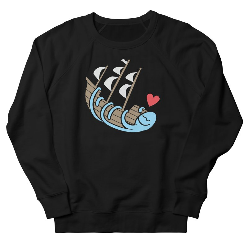 The Ship Loving Kraken Men's French Terry Sweatshirt by Coffee Pine Studio