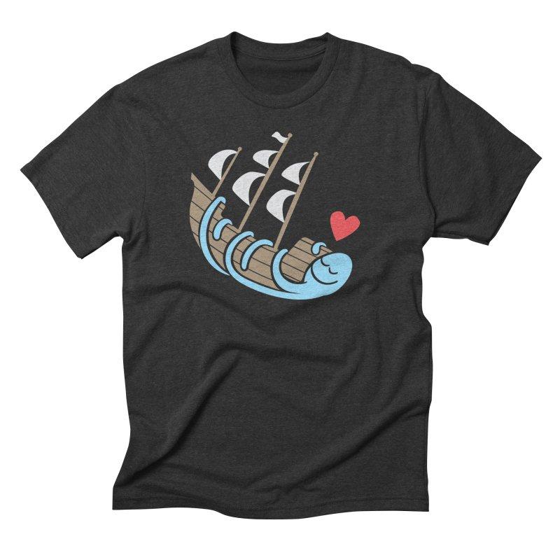 The Ship Loving Kraken Men's Triblend T-Shirt by Coffee Pine Studio