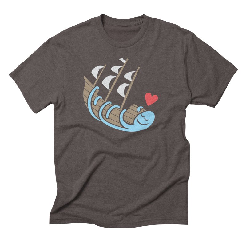 The Ship Loving Kraken Men's Triblend T-Shirt by Coffee Pine Studio