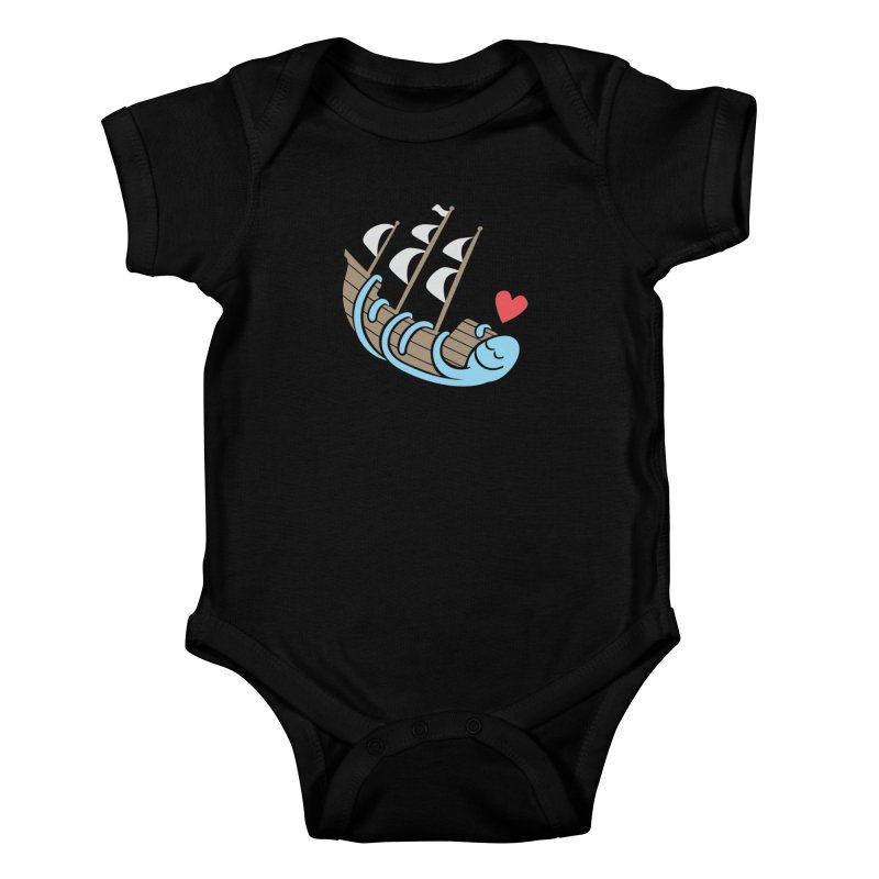 The Ship Loving Kraken Kids Baby Bodysuit by Coffee Pine Studio