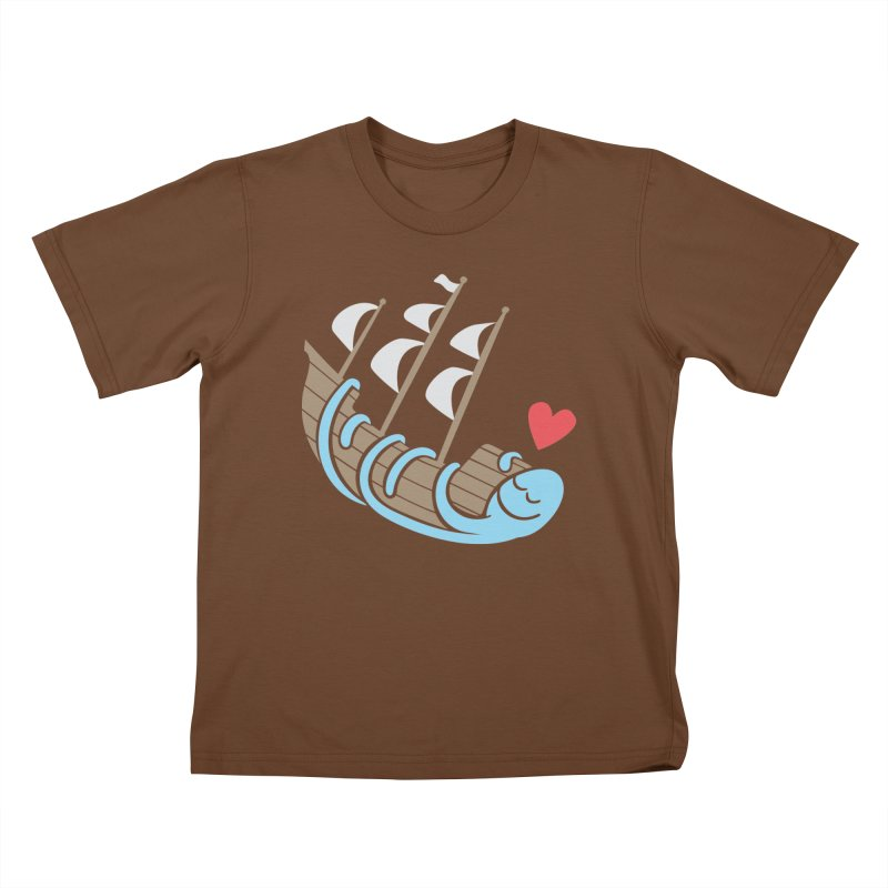 The Ship Loving Kraken Kids T-Shirt by Coffee Pine Studio