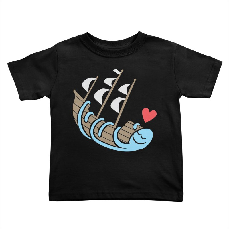 The Ship Loving Kraken Kids Toddler T-Shirt by Coffee Pine Studio