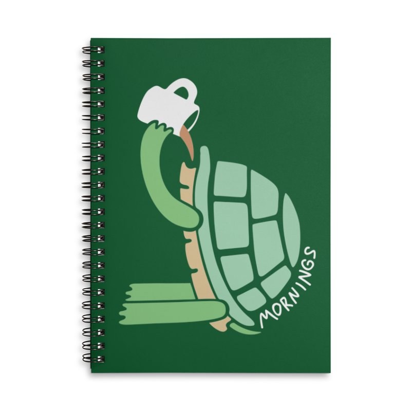 Mornings Accessories Lined Spiral Notebook by Coffee Pine Studio