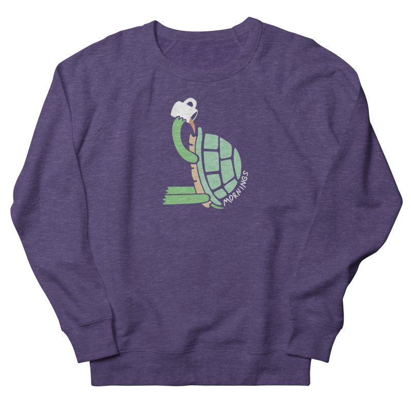Mornings Women's French Terry Sweatshirt by Coffee Pine Studio