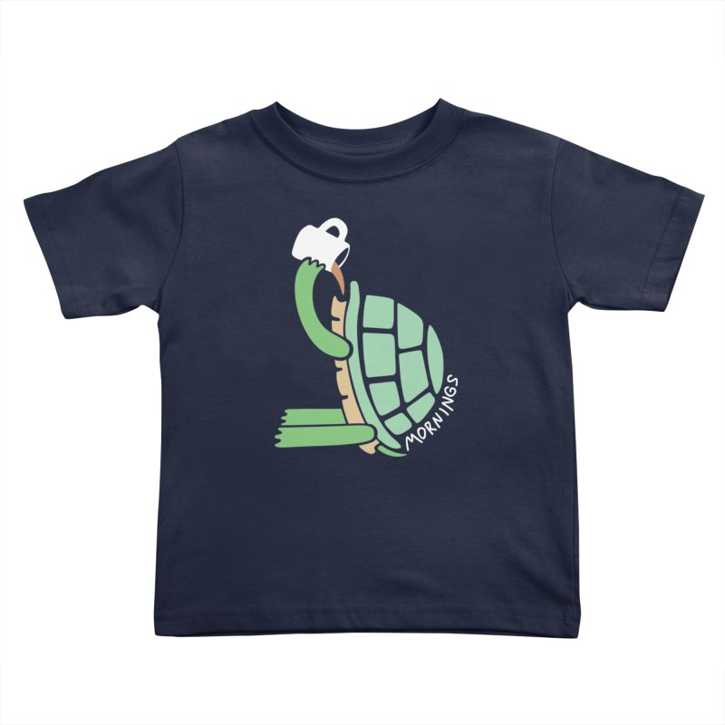 Mornings Kids Toddler T-Shirt by Coffee Pine Studio