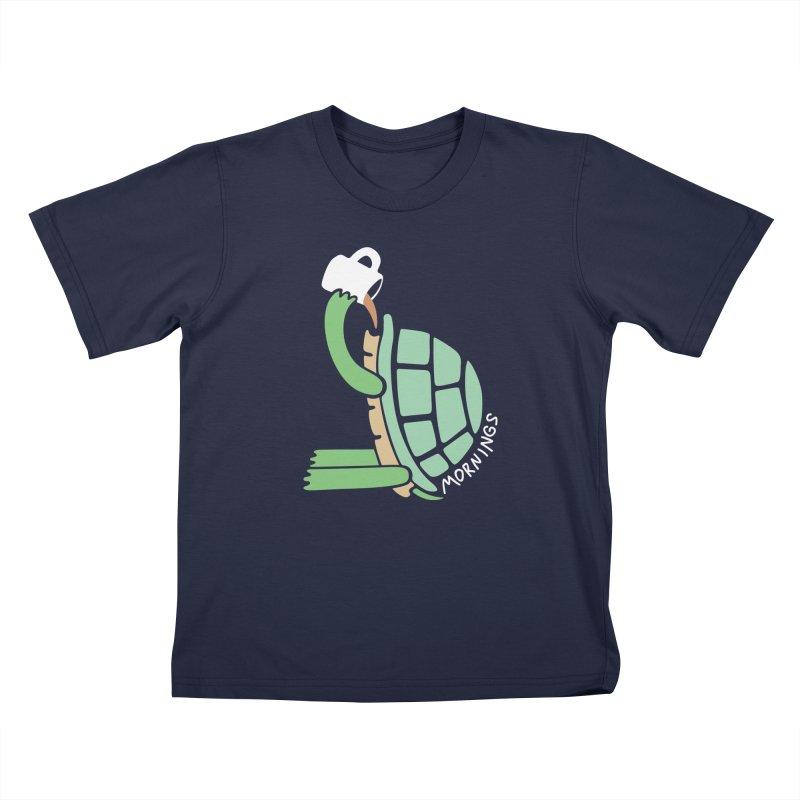 Mornings Kids T-Shirt by Coffee Pine Studio