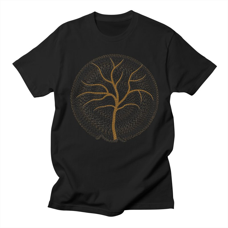 Tree of Life in Men's Regular T-Shirt Black by Coffee Pine Studio