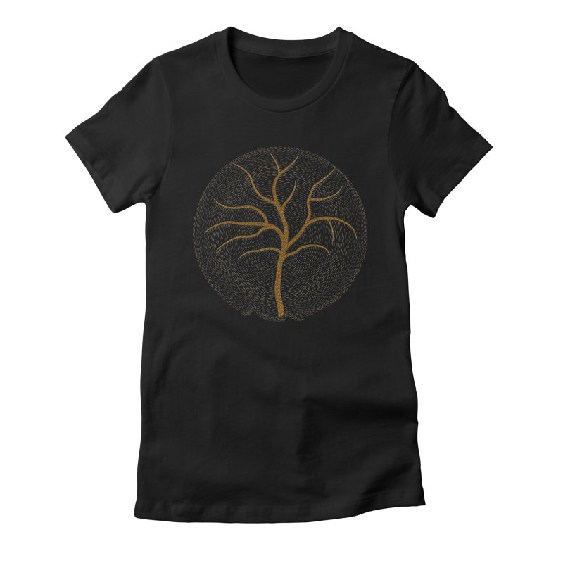 Tree of Life Women's Fitted T-Shirt by Coffee Pine Studio