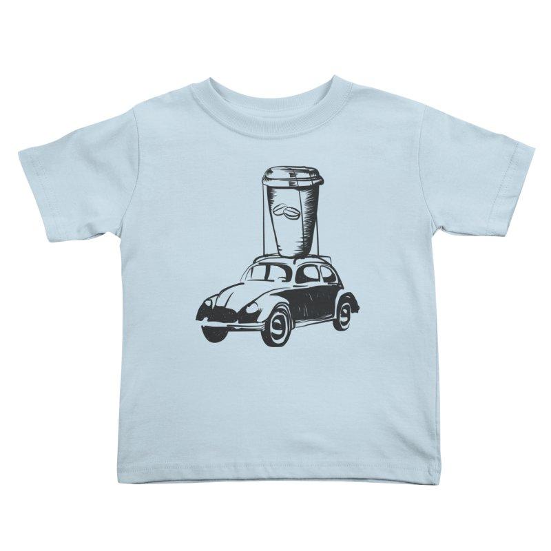 Coffee to Go Kids Toddler T-Shirt by Coffee Pine Studio